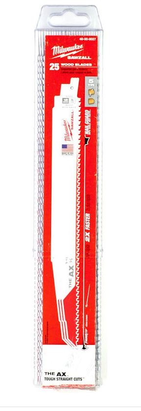 MILWAUKEE 48008027 AX DEMOLITION 300MM SAWZALL BLADE - PACK OF 25