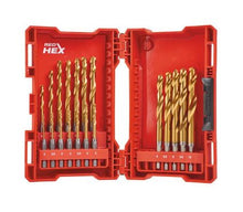 Load image into Gallery viewer, MMILWAUAUKEE 48894760 HSS HEX SHOCKWAVE HSS GROUND TIN METAL DRILL BITS 19PK