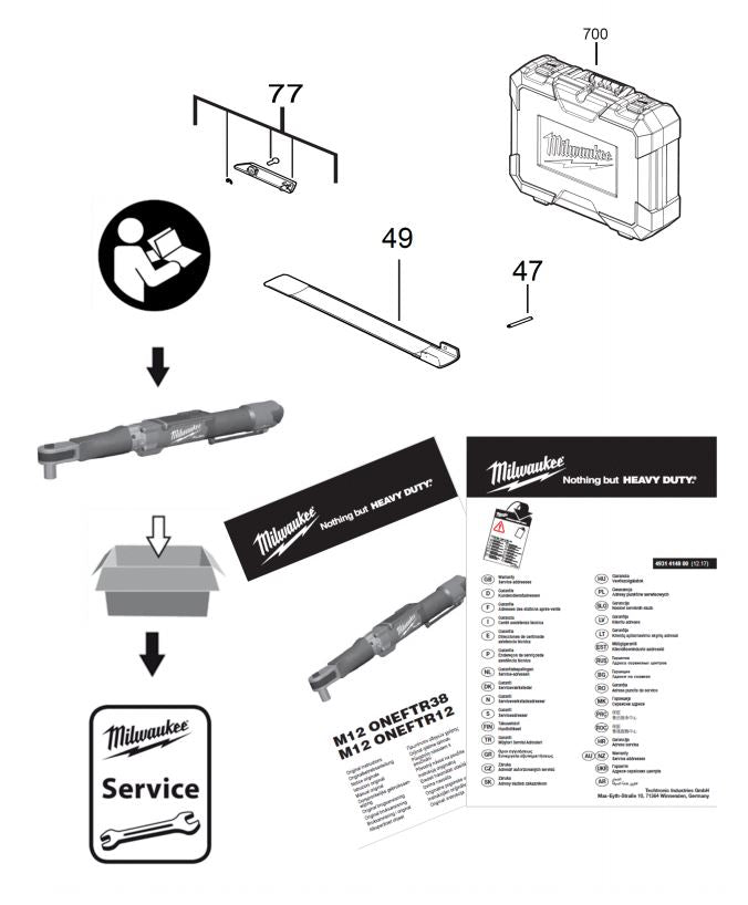 M12ONEFTR12 DIGITAL TORQUE WRENCH