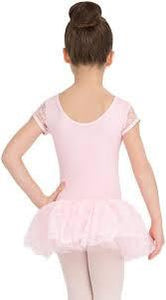 Cap Sleeve Tutu Dance Dress for Girls, Child Size 10128C