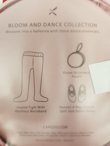 "Capezio ""BLOOM"" Child, Hanami Ballet Shoes & Tights Combination Pack - Pink Shoes & Tights"