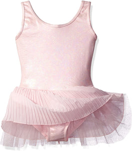 Capezio Pleated Tank Tutu Dress- 10736c, Child Dance Dress (Child Leotard with attached Tutu)
