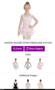 Ruched Strap Tutu Dance Dress for Girls, Child Size 10129C