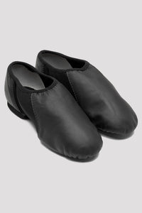 Bloch S0495L, Ladies Black Neo-Flex Slip On Leather Jazz Shoe, Adult Size