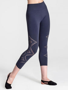 Capezio Seamless Deco Cropped Leggings