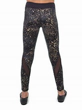 Load image into Gallery viewer, Capezio Leggings - 11464W Damask Mesh Insert Leggings - Adult Size