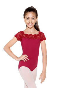 SoDanca, Child Cap Sleeve Lace Leotard, SL17 Tilly, Child Leotard