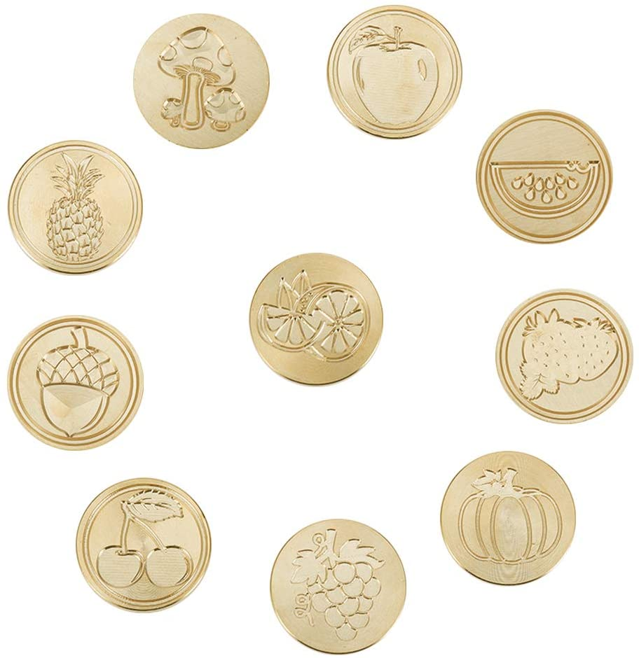 Wax Seal Stamp Set, 10PCSs Fruit Vegetable Theme