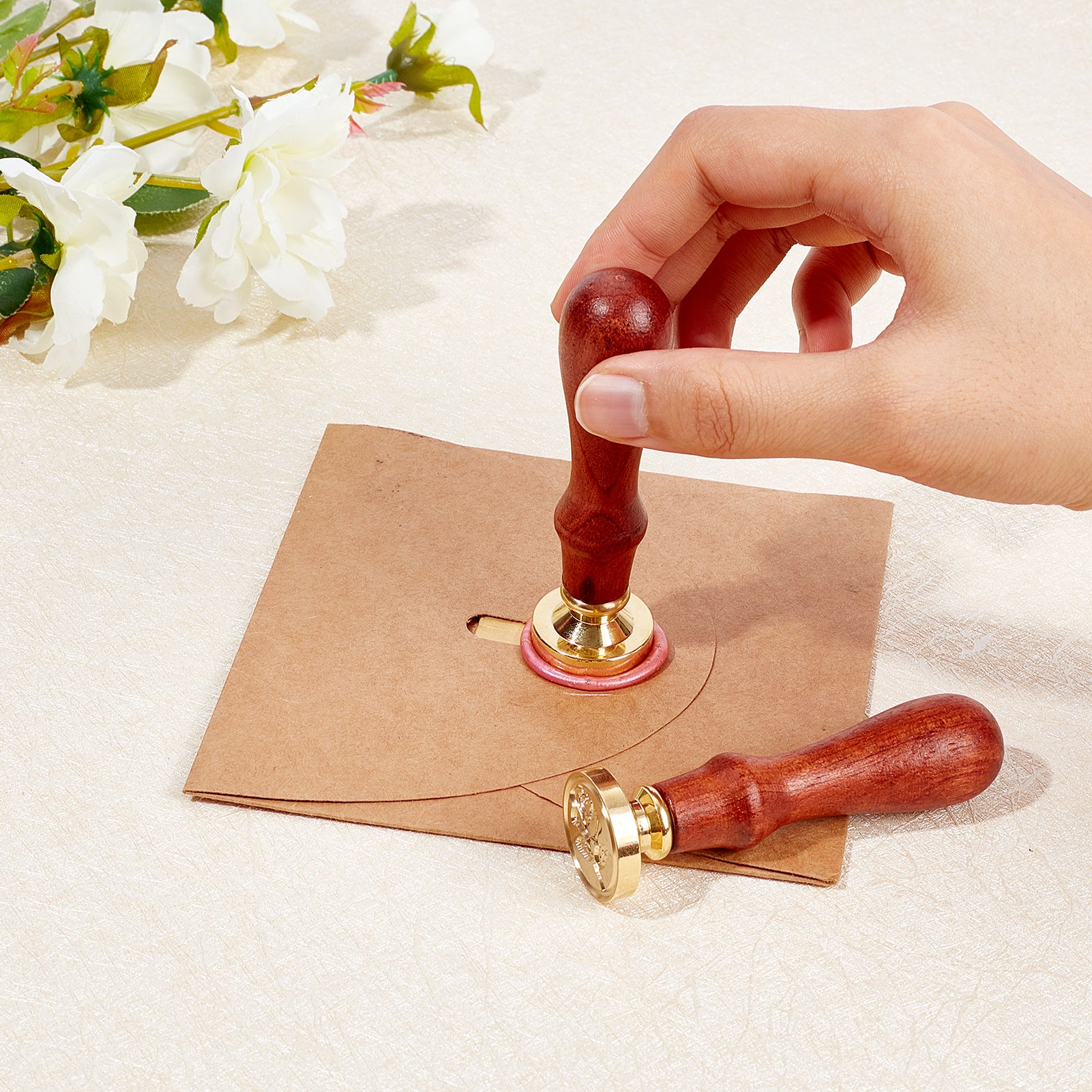 Rose Wax Seal Stamp Set(stamp heads and handles)