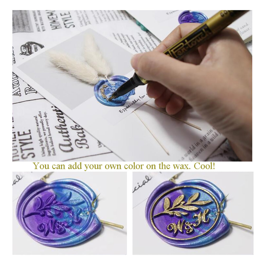 Ice Crystals Wax Seal Stamp