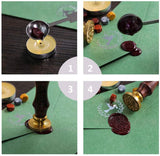 Cross Wood Handle Wax Seal Stamp