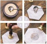 Assay Flask Pattern Wax Seal Stamp