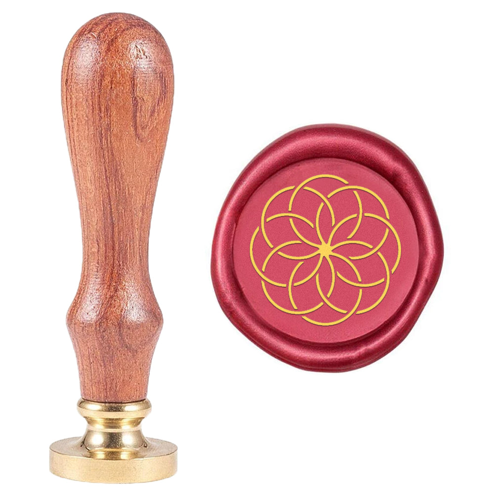 Geometric Flower Pattern Wax Seal Stamp