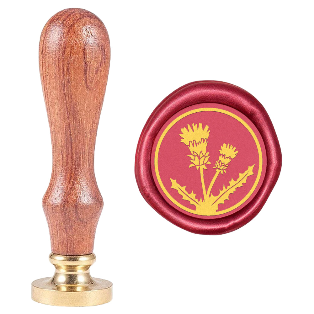 Thistle Grass Pattern Wax Seal Stamp