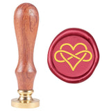 Heart Shape With Infinite Loop Symbol Wax Seal Stamp