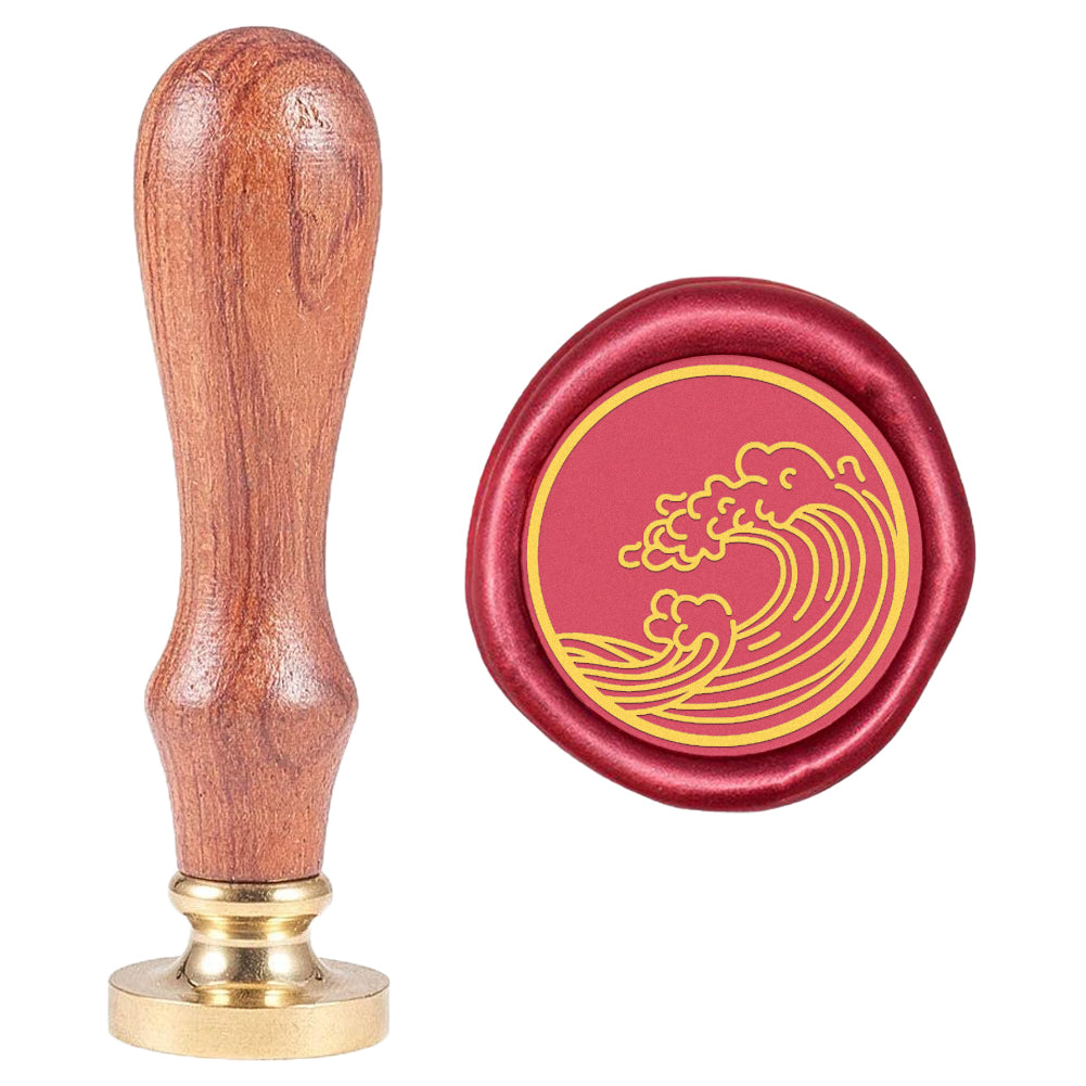 Spindrift Pattern Wax Seal Stamp