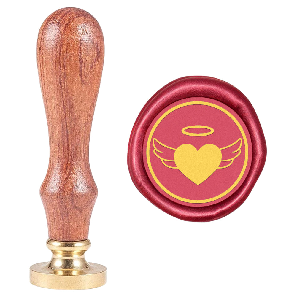 Heart Shape with Angel Wings Wax Seal Stamp