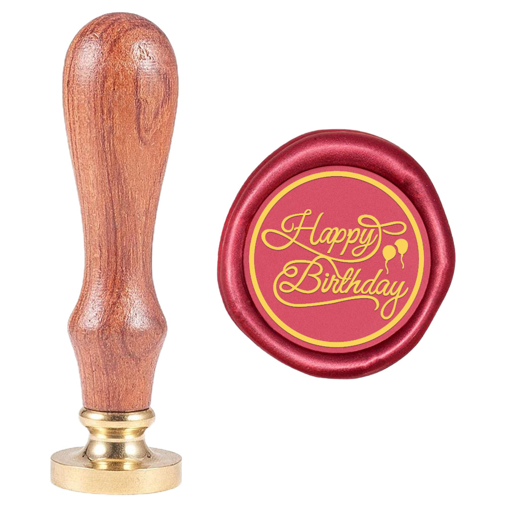 Happy Birthday Signature with Balloon Wax Seal Stamp