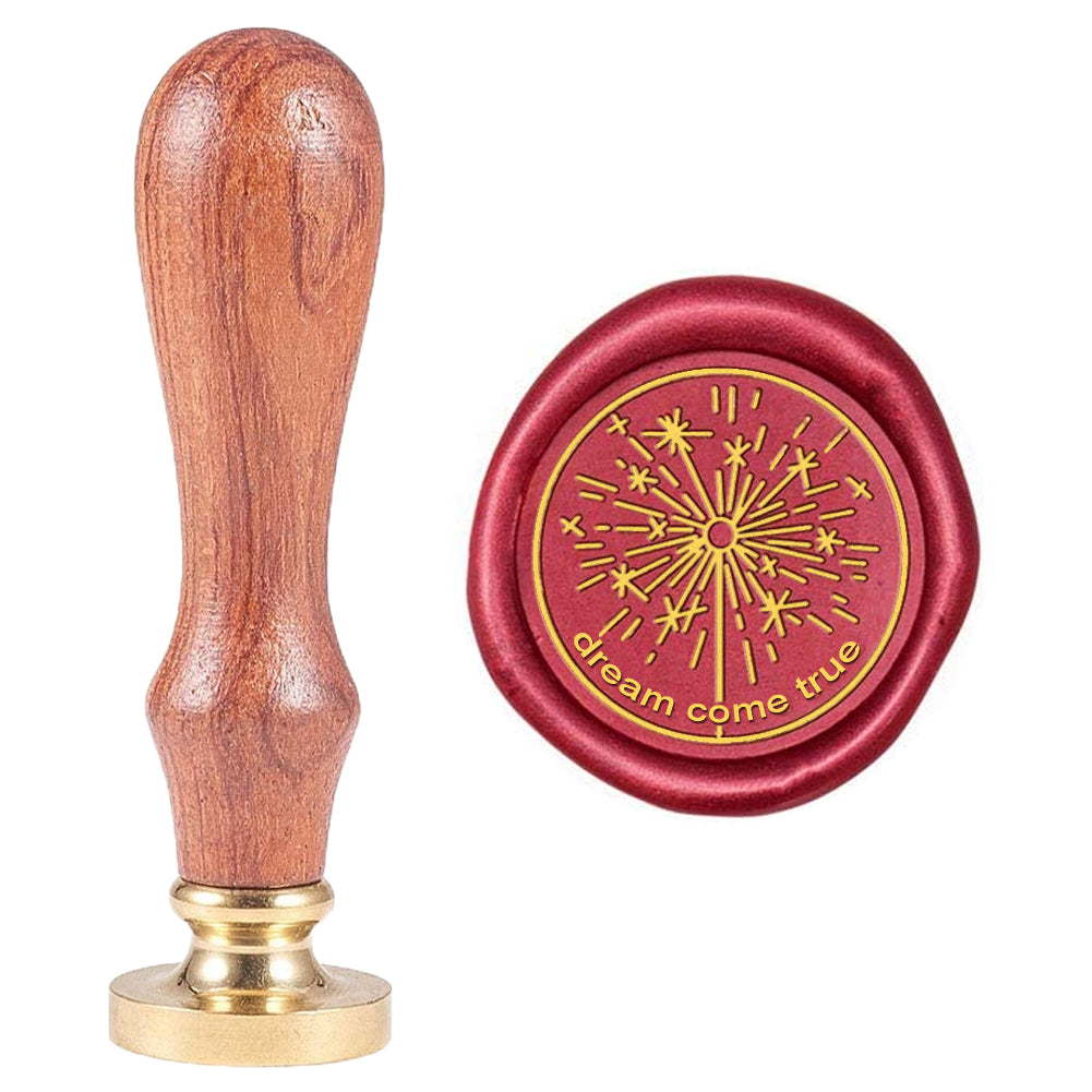 Fireworks Word Dream Come True Wax Seal Stamp