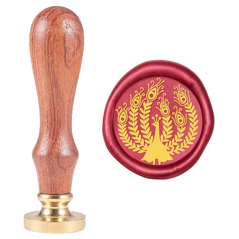 Wax Seal Stamp Animal Peacock