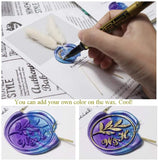 Wax Seal Stamp Insect Dragonfly in Flower