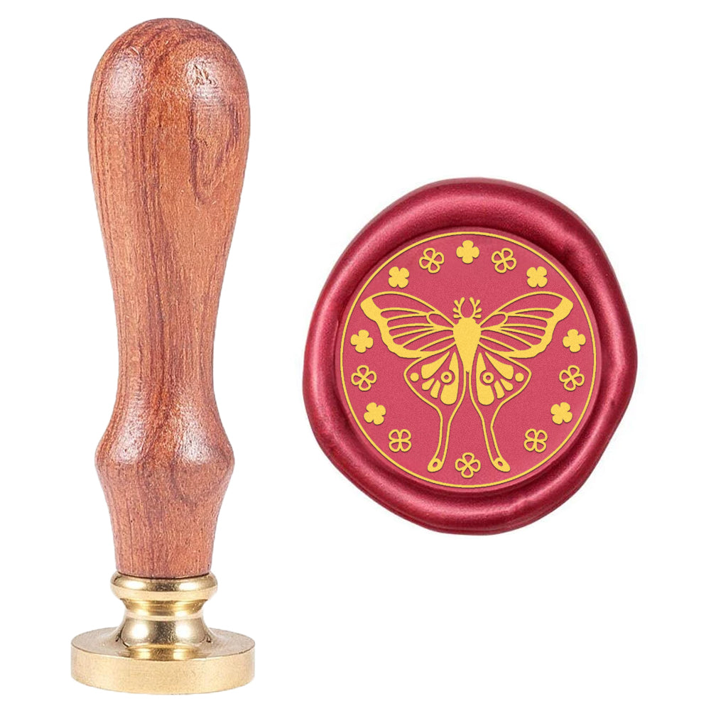 Four-Leaf Clover Butterfly Wax Seal Stamp