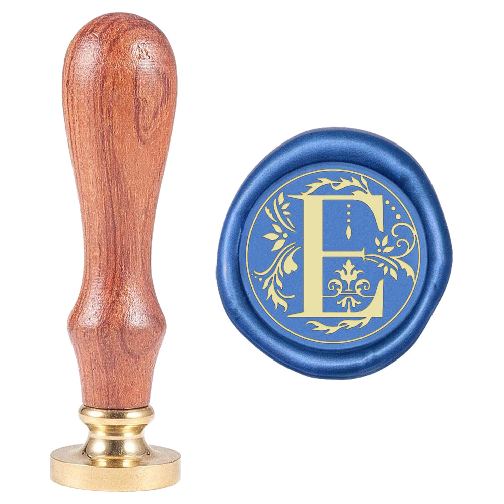 Letter E Wax Seal Stamp
