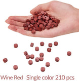 210PCS Red Wine Octagon Sealing Wax Beads Kit