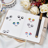 2 Rolls Black White Colorful Adhesive Eye Stickers