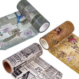 3 Rolls 99mm Vintage Washi Tape Set Antique Theme
