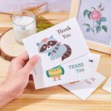 18pcs Thank You Cards and Envelopes Set Animal Theme