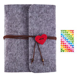 Scrapbook Photo Album Gray Felt Cover(180x195mm)