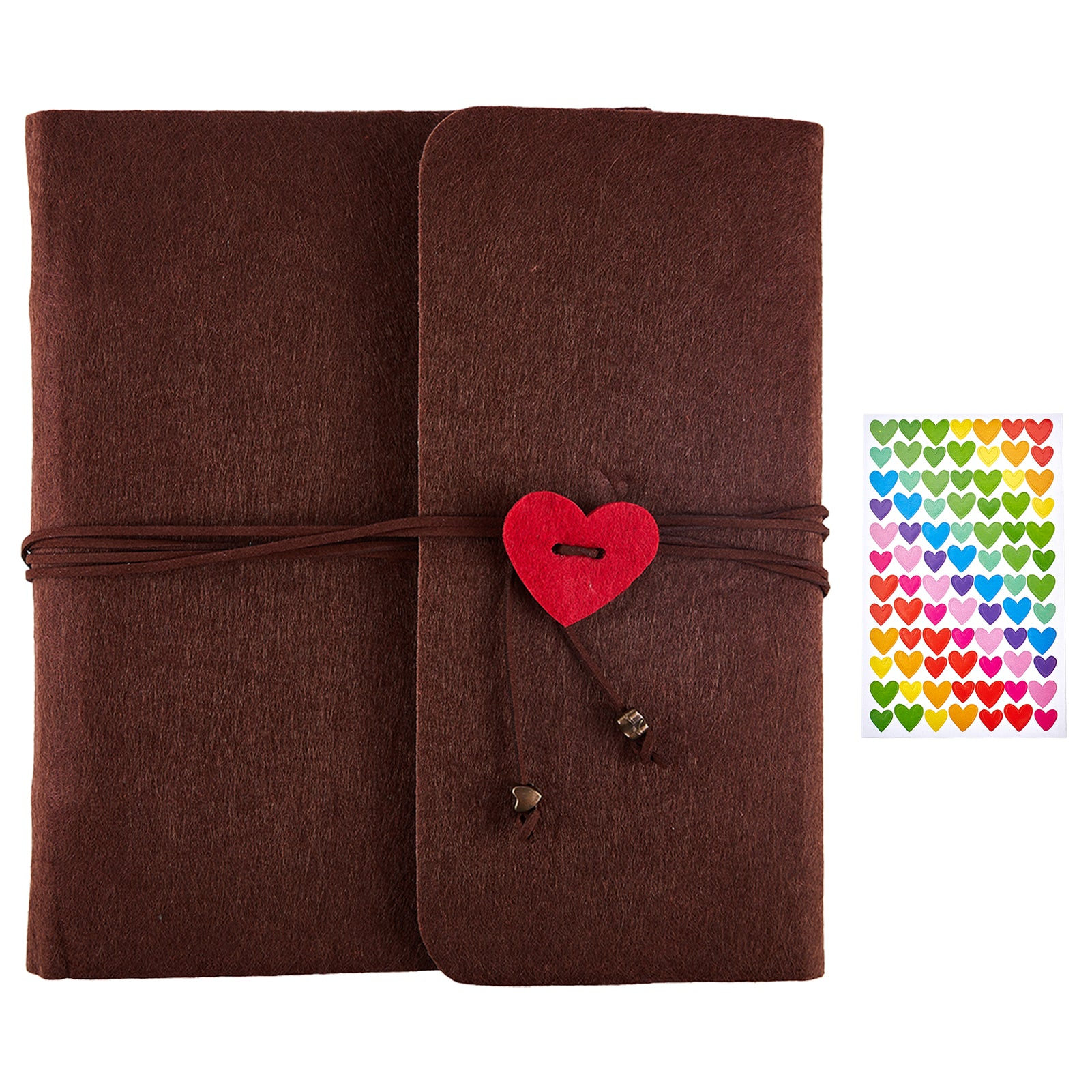 Scrapbook Photo Album Brown Felt Cover(235x250mm)