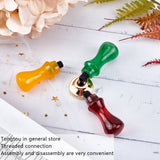3PCS Wax Seal Stamp Resin Handle  for 7mm