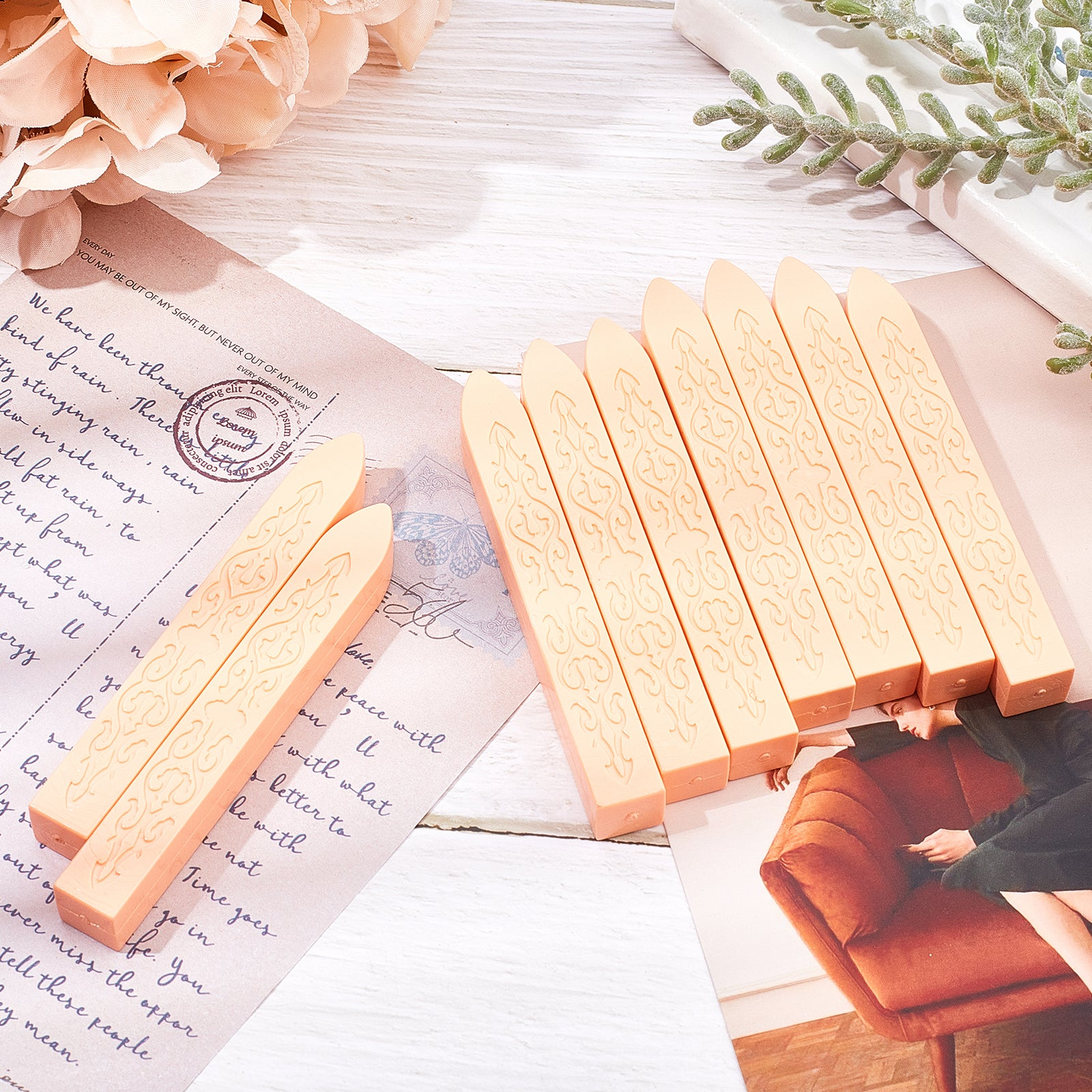 20pcs Sealing Wax Sticks Kits(PeachPuff)
