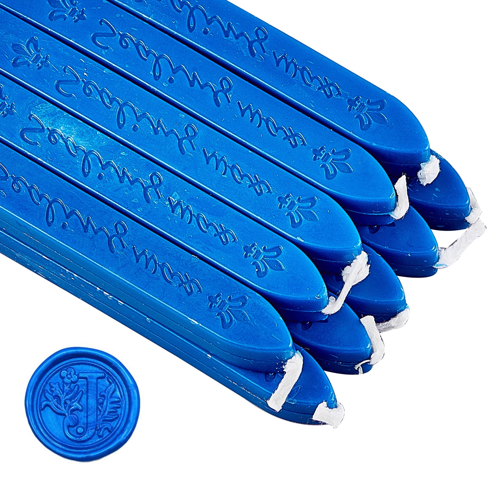 20 Pieces Sealing Wax Sticks with Wicks(Dark Blue)