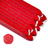 20 Pieces Sealing Wax Sticks with Wicks(Dark Red)