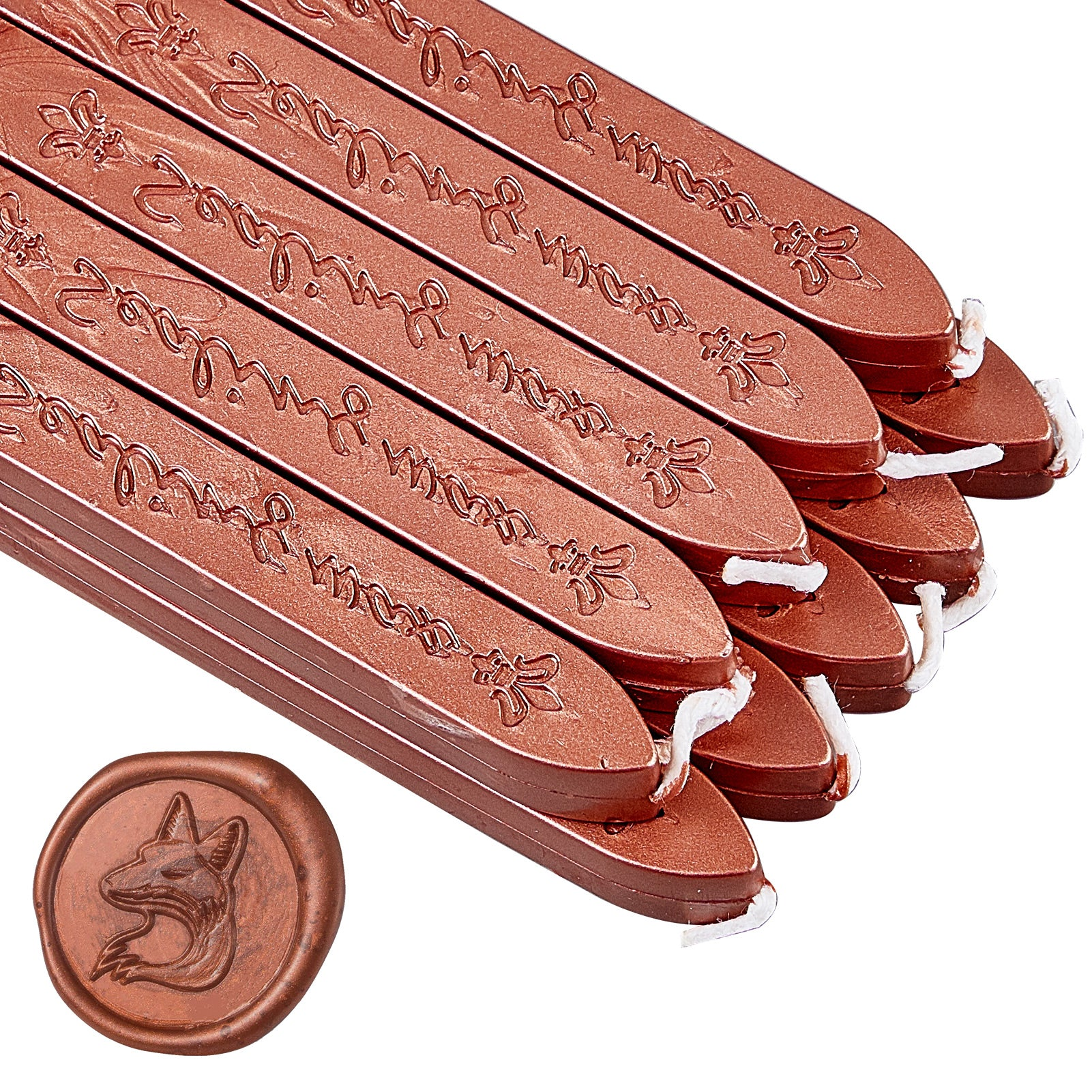 20 Pieces Sealing Wax Sticks with Wicks(Gold Copper)