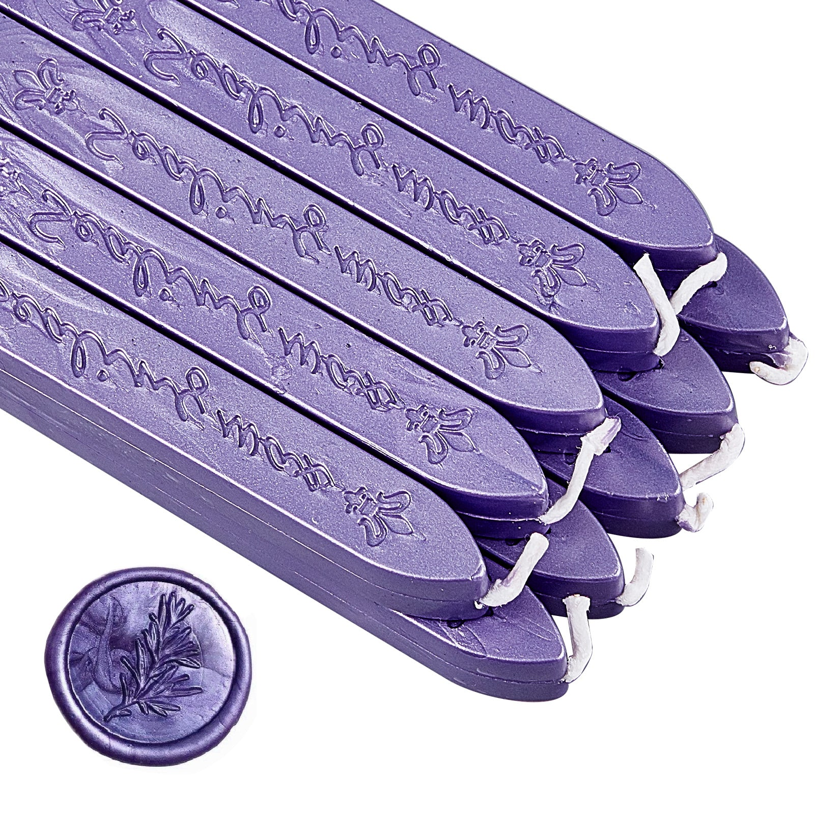 20 Pieces Sealing Wax Sticks with Wicks(Pearl Purple)