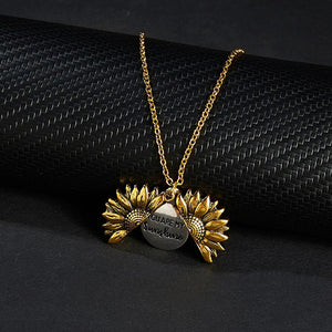 """You Are My Sunshine"" Unique Sunflower Necklace"