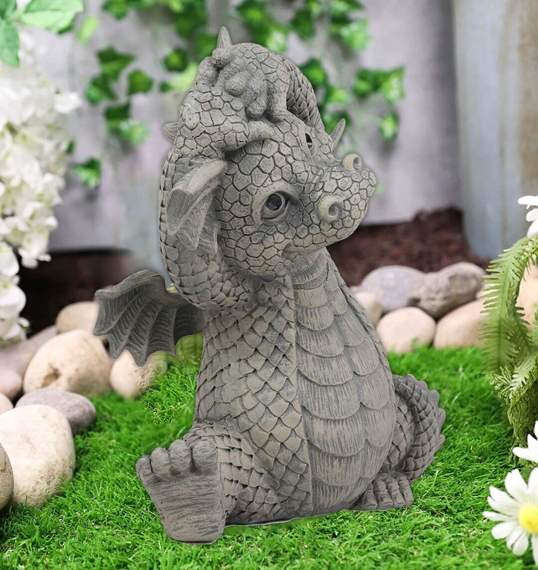 Baby Dragon Buddha, Meditating Baby Dragon Statue