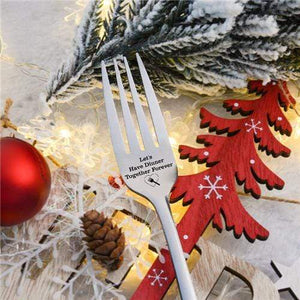 1Engraved Fork - Best Gift for Husband Wife and Family-(BUY 2 FREE SHIPPING)