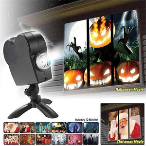 Halloween/CHRISTMAS Hot Sale-HAUNTED HALLOWEEN PROJECTOR(BUY 2 SAVE 10% OFF)