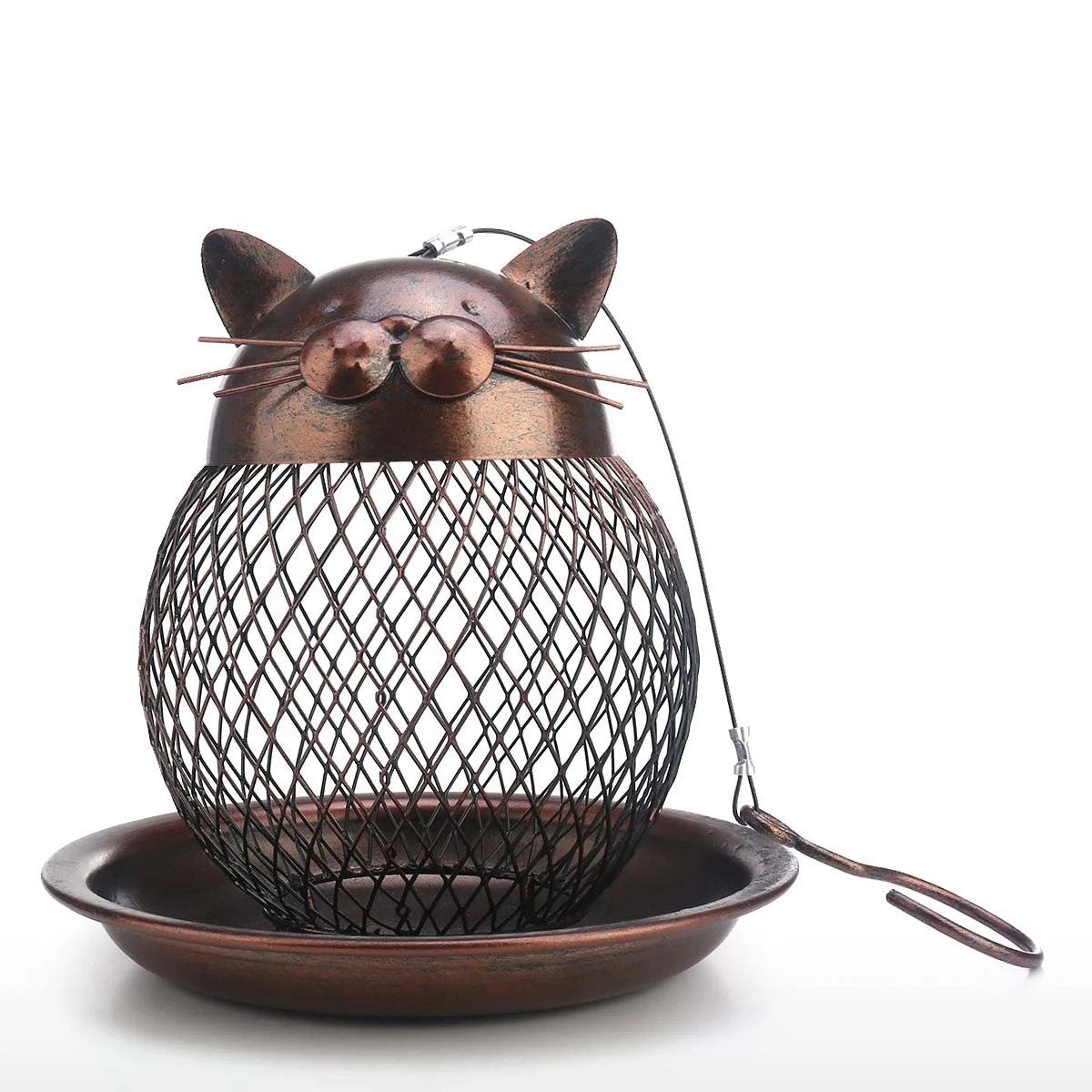 BUY two free shipping-Cat Shaped Bird Feeder