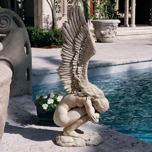 Modern Winged Nude Female Angel Sculptures Statues