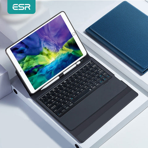 ESR Bluetooth Wireless Keyboard Case For iPad 7.9/9.7/10.5/11/12.9 2020 2018 2017 iPad Air 3 MINI 5 4 Smart Case Tablet Keyboard