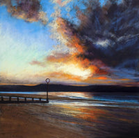 The Gloaming at Porty 30 x 30cm
