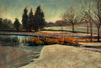 Cold Snap at Hogganfield 30 x 20cm