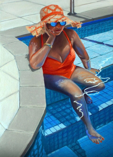 Poolside Glamour 50x35cm