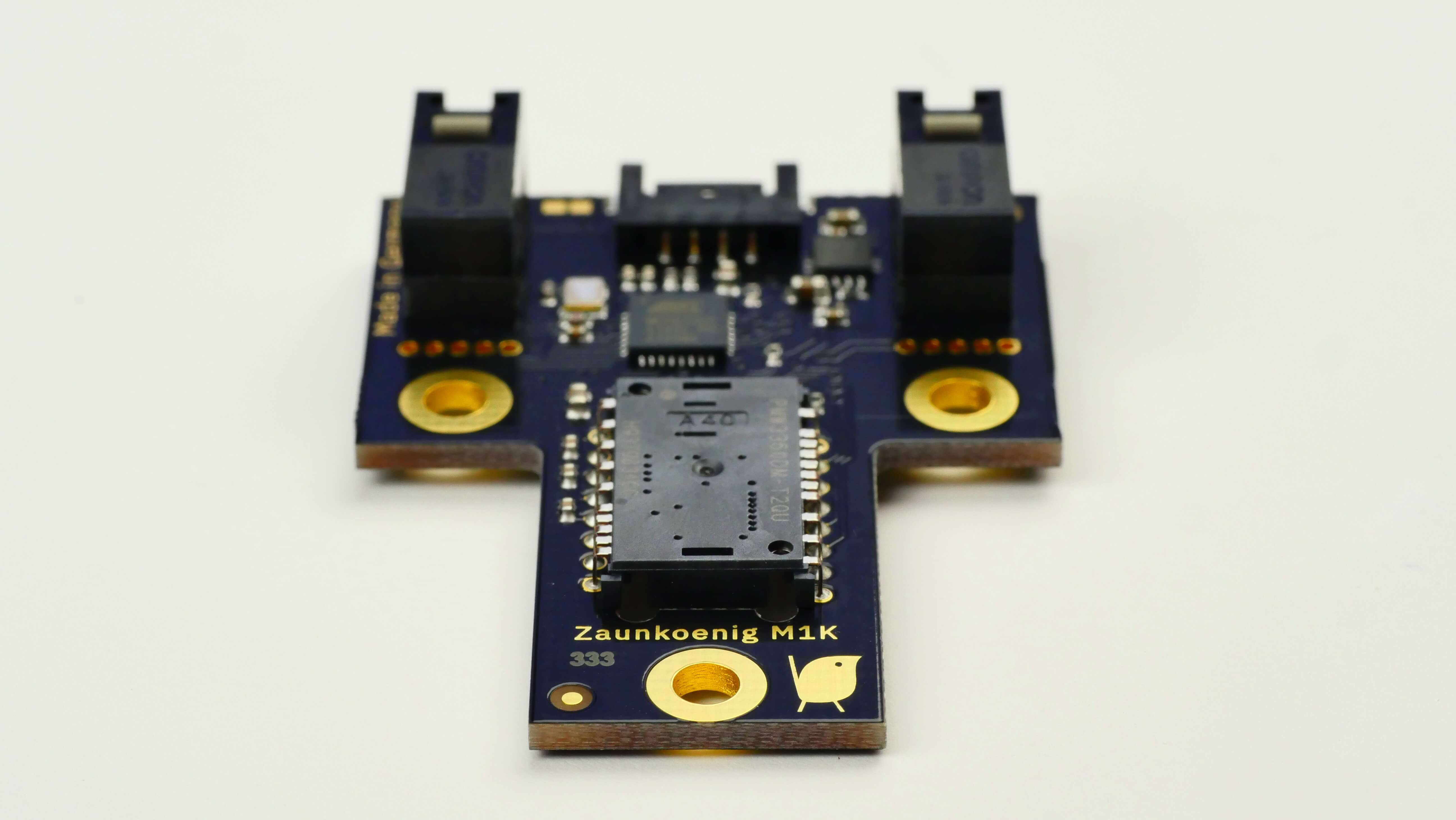 This picture shows the Zaunkoenig M1K PCB number 333.